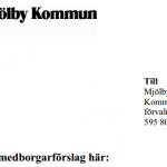 Medborgarförslaget om bättre skolmat är nu inlämnat till Mjölby Kommun